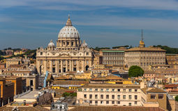View of St. Peter's Basilica in Rome, Italy Stock Images