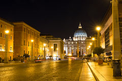 View of the St. Peter's Basilica in Rome, Vatican. Italy Royalty Free Stock Photos