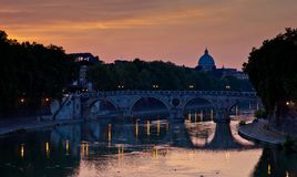 View of St. Peter's Basilica and the Vatican City Royalty Free Stock Photography