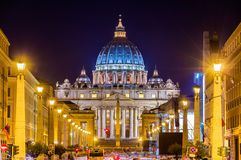 View of St. Peter's Basilica in Vatican City Royalty Free Stock Images