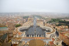 View from St. Peter`s Basilica, Vatican royalty free stock image