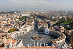 View from the St Peter's Cathedral, Rome, Italy Royalty Free Stock Photos