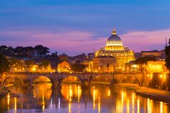 View at St. Peter's cathedral in Rome, Italy Stock Images