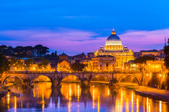 View at St. Peter's cathedral in Rome, Italy Stock Photos