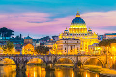 View at St. Peter's cathedral in Rome, Italy Royalty Free Stock Photos