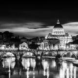 View at St. Peter's cathedral in Rome, Italy Stock Photo
