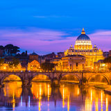 View at St. Peter's cathedral in Rome, Italy Stock Photography