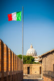 View on St. Peter's cathedral in Rome Stock Photo