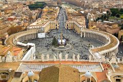 View of St. Peter's square in the vatican Royalty Free Stock Images