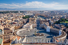 View on St.Peter Square Royalty Free Stock Image