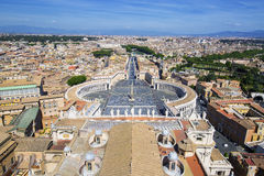 View of St. Peter Square and Rome Royalty Free Stock Photo