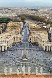 View of St. Peter Square and Rome, Vatican Royalty Free Stock Photo