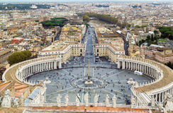 View of St. Peter Square and Rome, Vatican Stock Photo