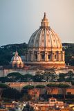 St. Peter`s Dome Basilica Rome Italy royalty free stock image