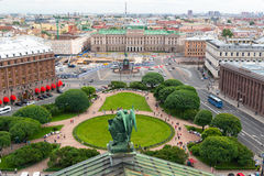 View of the St. Petersbourg from St. Isaac's Cathedral, Russia Royalty Free Stock Photo