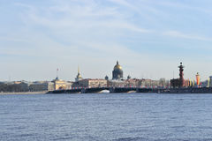 View of the St.Petersburg. St. Isaac's Cathedral and the Palace Bridge Royalty Free Stock Photo