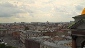View of St. Petersburg from the colonnade of St. Isaac`s Cathedral.  stock video