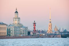 View of the embankment of St. Petersburg Royalty Free Stock Images
