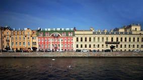 View of St. Petersburg Film Tilt. View of the Fontanka river in St. Petersburg stock video