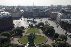 View of St. Petersburg from the height Royalty Free Stock Image