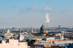 View of St. Petersburg from height of St. Isaac`s Cathedral Stock Photography