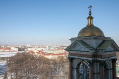 View of St. Petersburg from height of St. Isaac`s Cathedral Stock Image