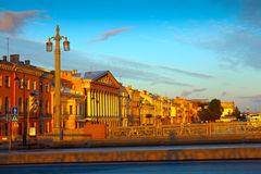 View of St. Petersburg  in morning Royalty Free Stock Photo