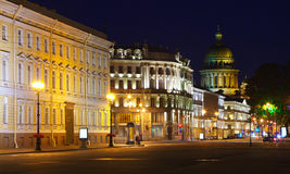 View of St. Petersburg in night Stock Image