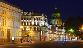 View of St. Petersburg in night Royalty Free Stock Images