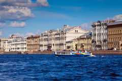 View of St. Petersburg. Palace Embankment Stock Image