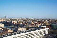 View of St. Petersburg from the roof of the building Royalty Free Stock Image