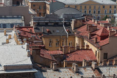 View of St. Petersburg from the roof of the house. Stock Photography