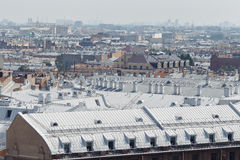 View of St. Petersburg from the roof of the house Stock Image