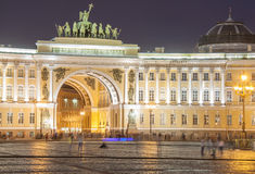 View of St. Petersburg in Russia.Petersburg night scene. Stock Photos