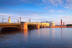 View of St. Petersburg.  Spit of Vasilievsky Island Royalty Free Stock Image