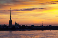 View of St. Petersburg  in summer dawn Royalty Free Stock Image