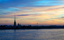 View of St. Petersburg in summer dawn Stock Photography