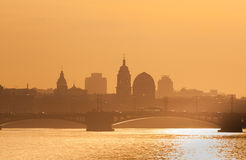 View of St. Petersburg at sunset Royalty Free Stock Photography