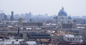 View of St. Petersburg from the viewing point of St. Isaac's Cat Stock Photography