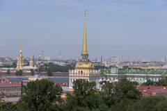 View of St. Petersburg from the viewing point of St. Isaac's Cat Royalty Free Stock Photo