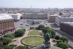 View of St. Petersburg from the viewing point of St. Isaac's Cat Stock Photo