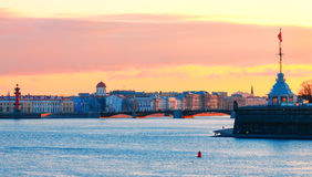 View of St. Petersburg during the white nights Royalty Free Stock Photography