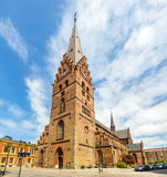 View of St Petri Cathedral in Malmo. Sweden Royalty Free Stock Images