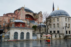 View of St. Sophia Cathedral Mosque, Hagia Sofia Royalty Free Stock Photos