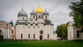 St. Sophia Cathedral, Novgorod Kremlin, Russia. View View of St. Sophia Cathedral Novgorod Kremlin, Russia royalty free stock images