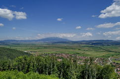 View from St. Spas hill to mountain Vitosha and Plana. Bulgaria Royalty Free Stock Photography
