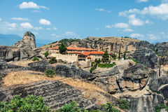 View of  St Stephen Monastery Agios Stefanos. Royalty Free Stock Photo
