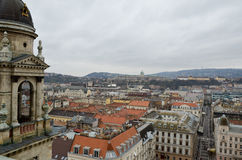 View from St Stephen's Basilica Bell Tower in Budapest Royalty Free Stock Photography