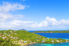 A view on St Thomas Island near Coki Beach, US VI. Royalty Free Stock Image