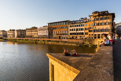 View of the St Trinity Bridge in Florence Royalty Free Stock Photo
